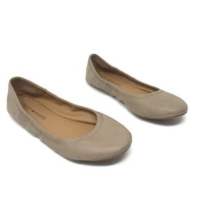 Lucky Brand Tan Shoes Flat ERIN 7.5 M Round Toe
